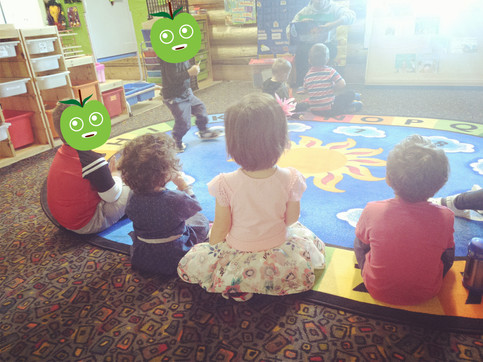 Daily circle time for our preschool and childcare program