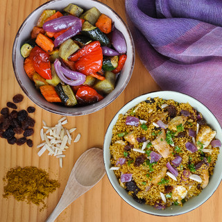 Curried chicken couscous
