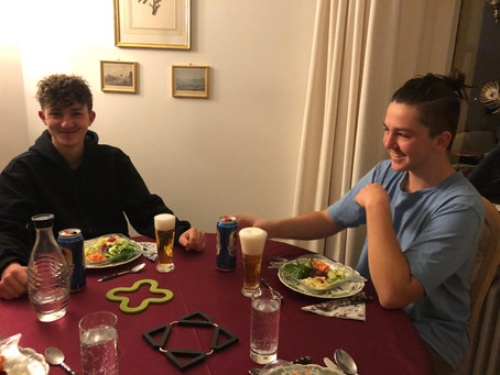 Lecker Abendessen bei Omi