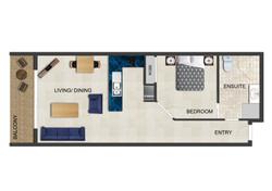 1 Bedroom - Layout