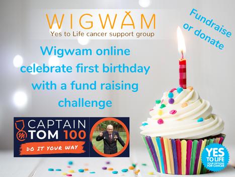 Wigwam online celebrate their first birthday with a fund raising challenge