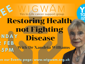 Our next Forum is 'Restoring Health Not Fighting Disease' with Dr Xandria Williams
