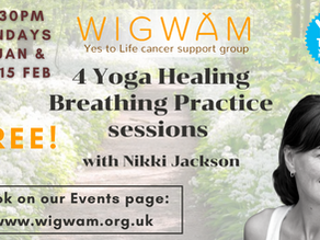 4 free Yoga Healing Breathing sessions with Nikki Jackson
