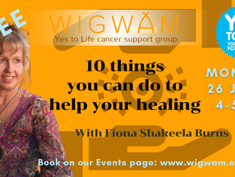 Forum on Monday: 10 things you can do to help your healing