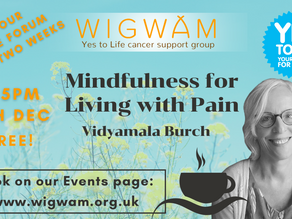 Join us for FREE forum with Vidyamala Burch on Mindfulness for Living with Pain