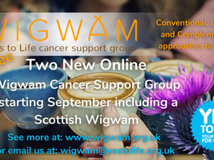 Two new Wigwam Cancer Support Groups starting in September