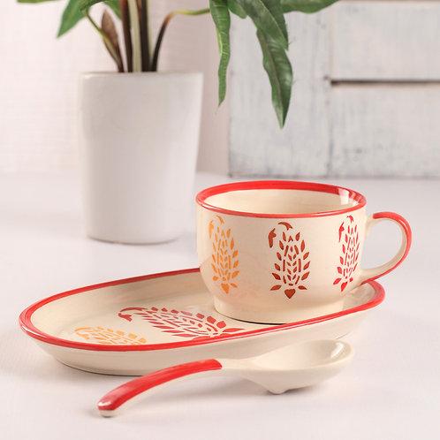 Red buti soup set