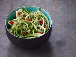 salade de courgettes épicée