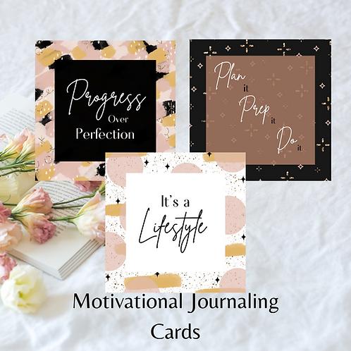 Motivational journaling cards