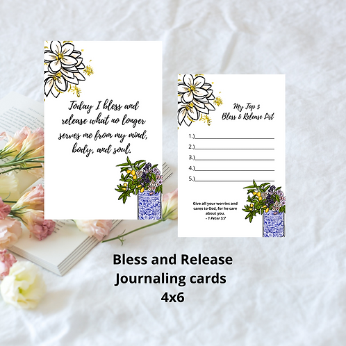 Bless and release Journaling Card