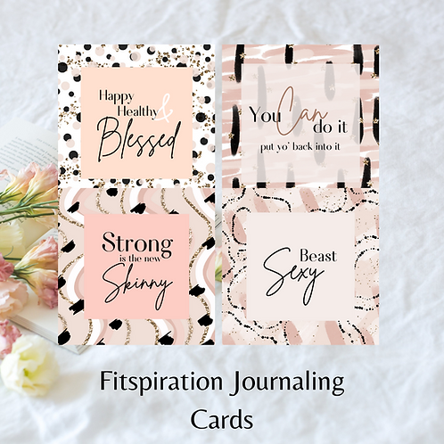 Fitspiration Journaling cards
