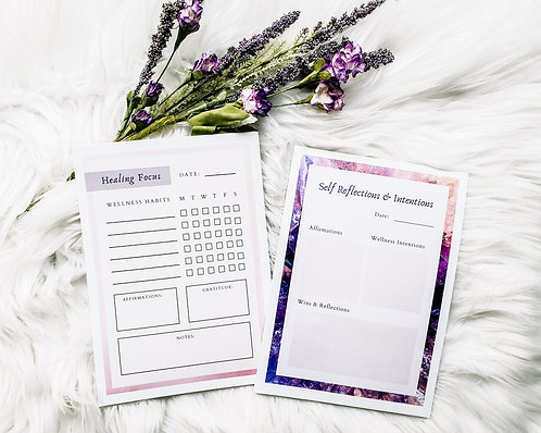Healing and Self Reflection Notepads