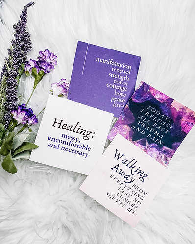 Let's Heal journaling cards
