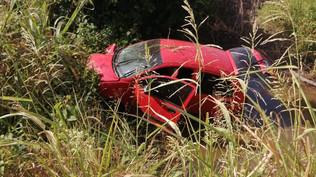 Rosarense resulta lesionado al salirse de la carretera en Escuinapa