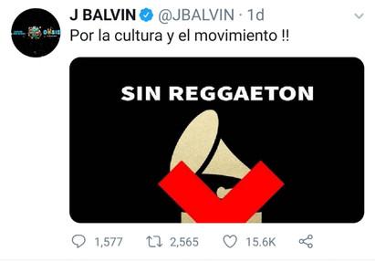¡Fuera Reggaetón! ...de los Grammy Latino 2019