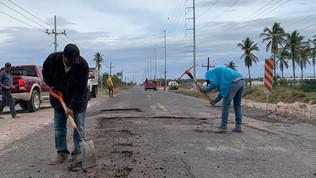 Bachearán la carretera Escuinapa-Teacapán para vacaciones de Semana Santa: López Angulo