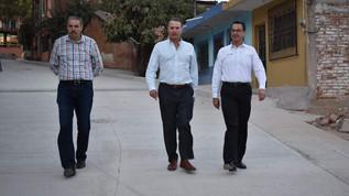 Avanzan obras de embellecimiento en Concordia; Gobernador realiza supervisión