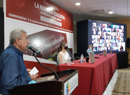 Rinde cuentas Rocha Moya con su libro La Reforma Educativa. Un Reporte desde el Senado