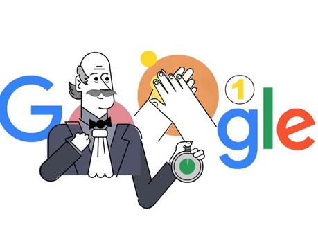 Google dedica doodle donde explica en correcto lavado de manos para evitar infecciones