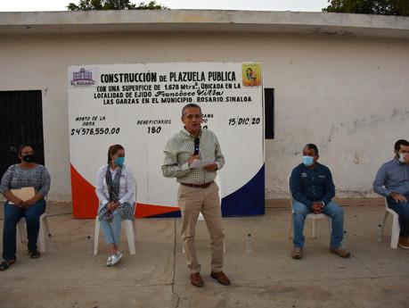 Construirán mega plazuela en la comunidad de Las Garzas, Rosario, invertirán mas de 4 mdp