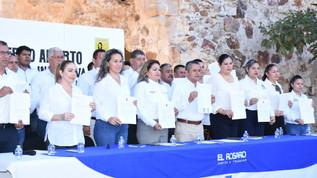 Presentan funcionarios de Rosario 'acuse se recibido' de declaración 3 de 3; no aparecen en 'linea'
