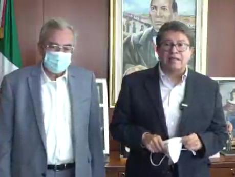 Expresa Ricardo Monreal solidaridad total a Rubén Rocha Moya