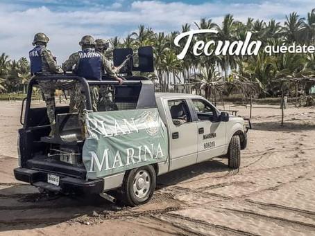 Tecuala cierra oficialmente, a partir de hoy, las playas de Novillero
