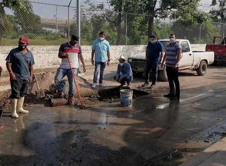 Mala calidad en obra de pavimentación de Palmillas afecta suministro de agua potable