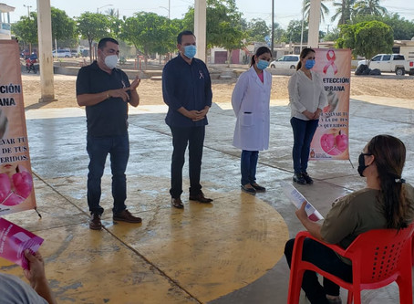 Lleva Sergio Torres capacitación sobre prevención de cáncer de mama a mujeres de campos pesqueros