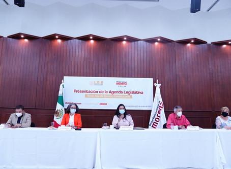 Presenta bancada de morena agenda legislativa para el tercer año de ejercicio constitucional