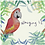 Thumbnail: Winging it - Parrot on a tropical background greeting card