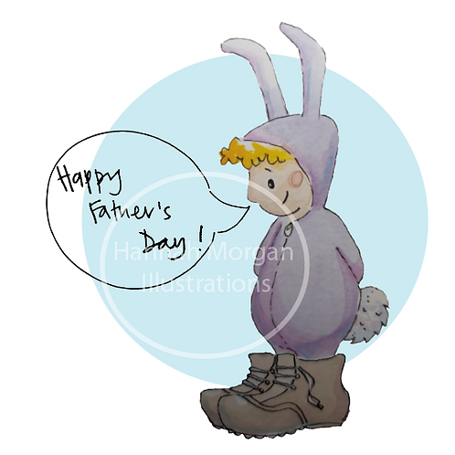 Father's day bunny card