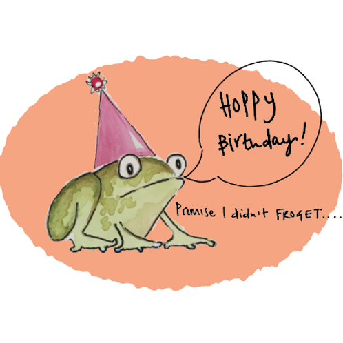 Hoppy Birthday - Promise I didn't Froget! Late birthday card