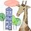 Thumbnail: Giraffe's new home greeting card