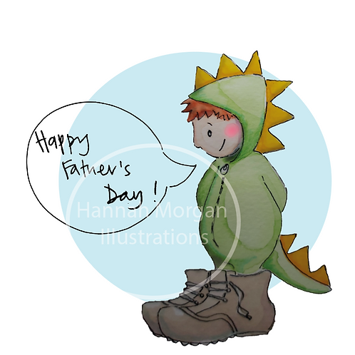 Father's day Dino card