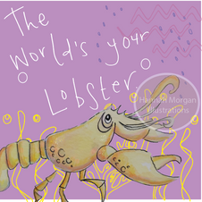 World's your lobster on purple 057