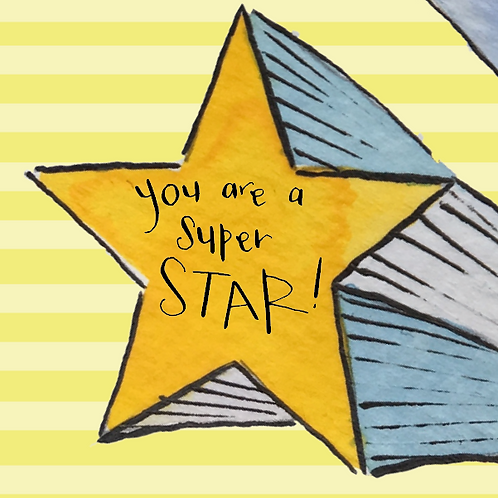 You are a superstar - greetings card