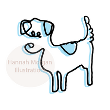 Pale Blue Jack Russell 031