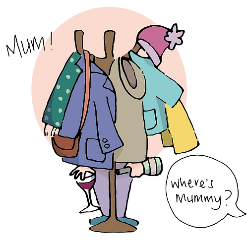 """Where's Mummy"" - greeting card"