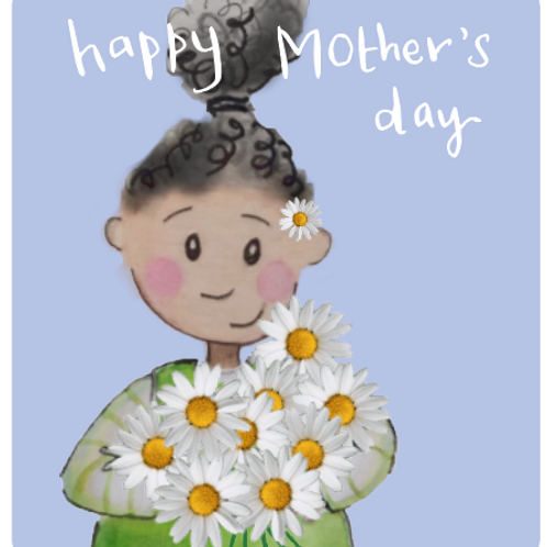 Daisy Lilac - Mother's day card