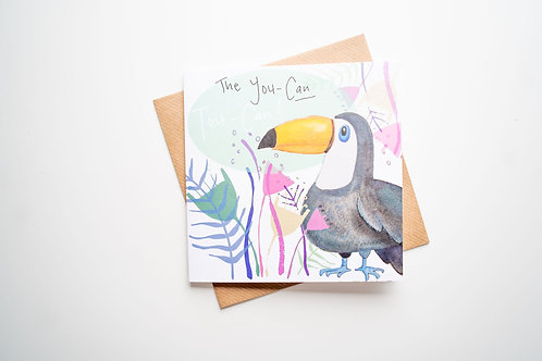 The You-can Toucan greetings card