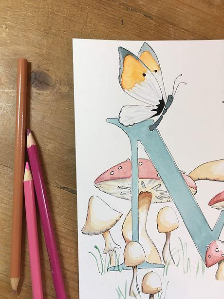 Watercolour close up