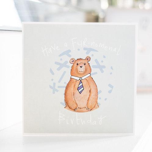 Furnomenal Bear Birthday card