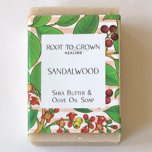 Root to Crown Healing Sandalwood with Shea Butter & Olive Oil Bar of Soap