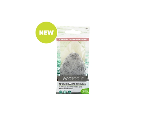 Ecotools Infused Facial Sponge with Charcoal and Rose