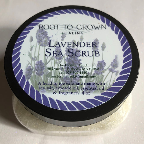 Root to Crown Healing Lavender Sea Scrub