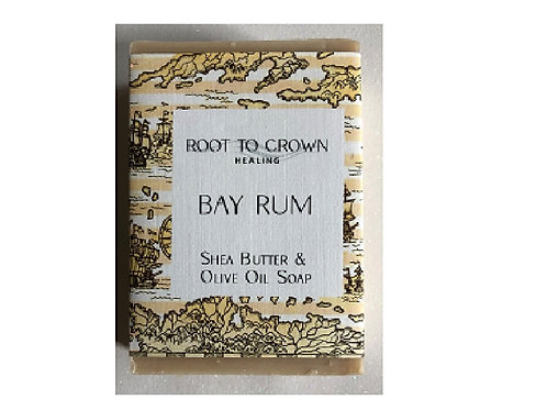 Root to Crown Healing Bay Rum with Shea Butter Olive Oil Bar of Soap