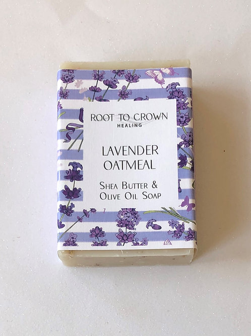 Root to Crown Healing Lavender Oatmeal with Shea Butter & Olive Oil Bar of Soap