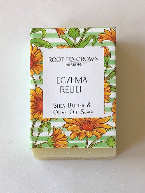 Root to Crown Healing Eczema Relief with Shea Butter &Olive Oil Bar of Soap