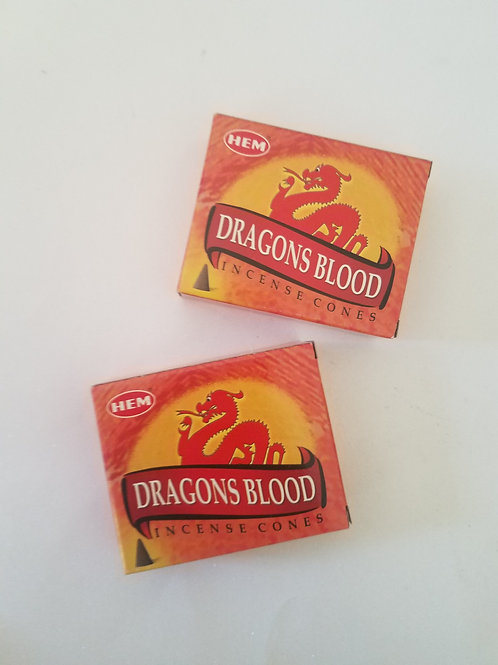 HEM Dragon's Blood Incense Cones 2 Pack